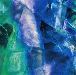 Gemstone  Blank Greetings Card - Fluorite (Gem09)